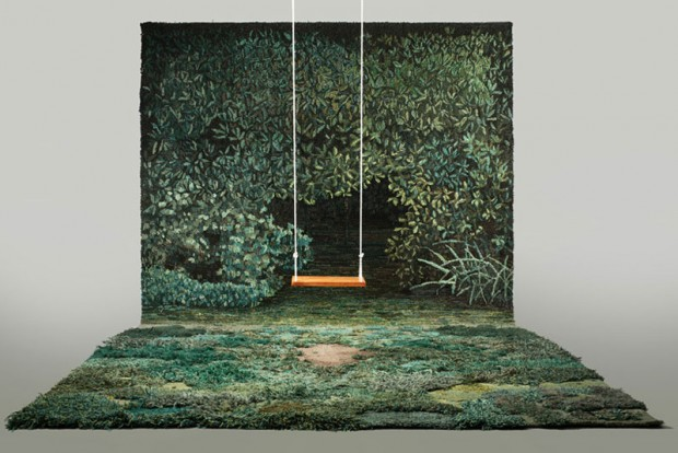 Carpets in the form of green nature (7)