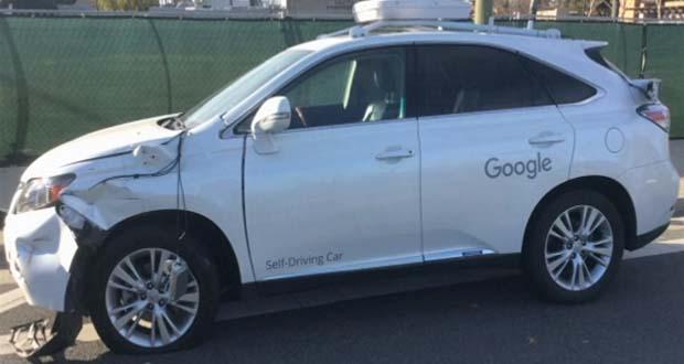 تصادف اتوموبیل خودراننده گوگل با اتوبوس حمل و نقل عمومی