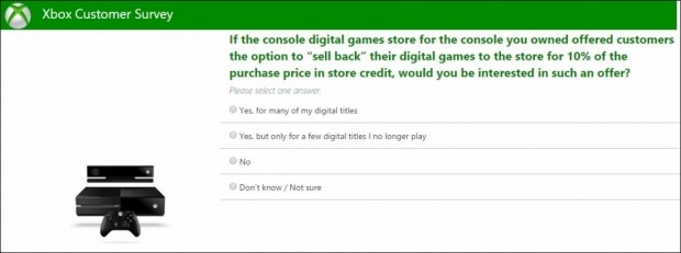 مایکروسافت میپرسد آیا حاضرید بازی که دیجیتالی خود را به ۱۰ درصد مبلغی که پرداخته اید بفروشید؟ ۱