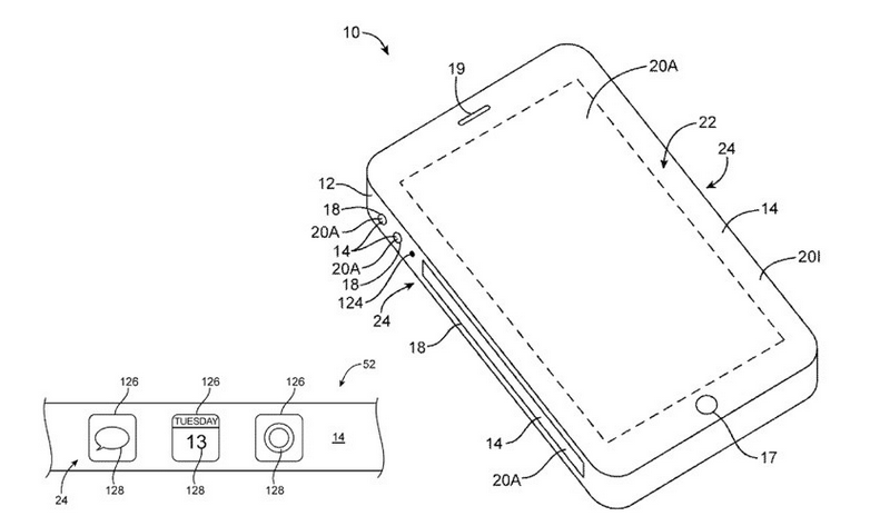 An-iPhone-with-square-sides-carrying-virtual-buttons-was-patented-by-Apple