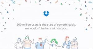 500 میلیون کاربر دراپ باکس