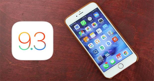 نسخه اصلاح شده iOS 9.3