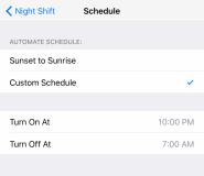 آموزش استفاده از قابلیت Night Shift در آی او اس ۹.۳