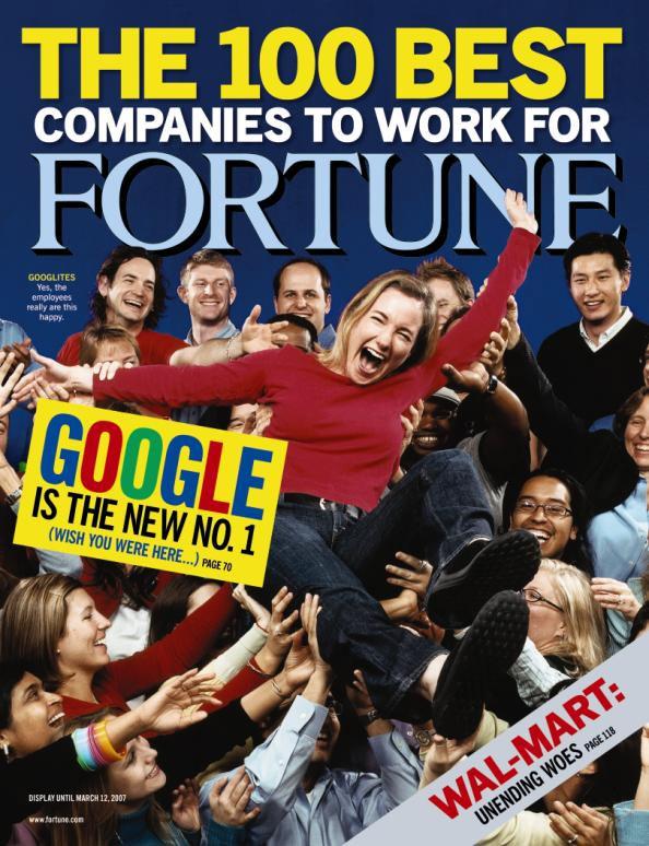 گوگل پنجمین سال متوالی به عنوان بهترین محل کار