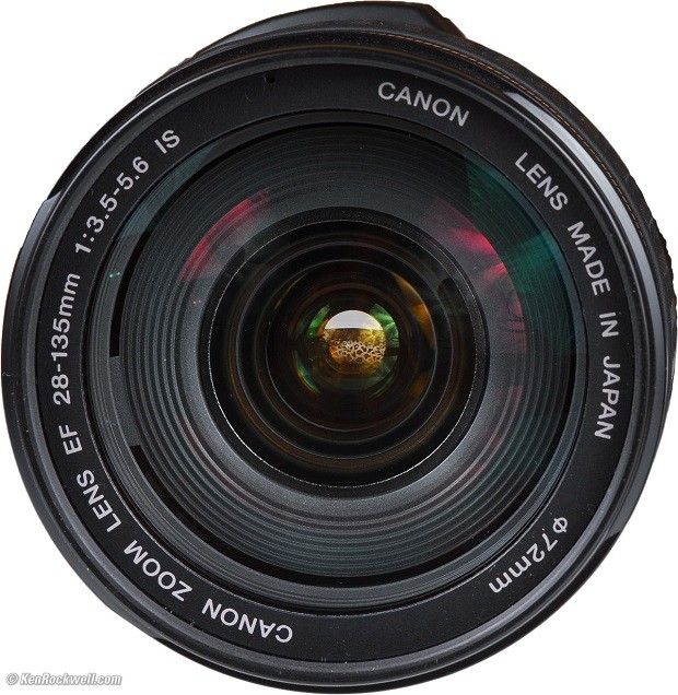 Front of lens