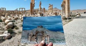 تصاویری از آثار باستانی شهر پالمیرا قبل و بعد از حملهی داعش