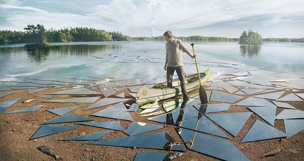 تماشا کنید: چگونگی خلق یک تصویر سورئال از دریاچهی آینهای