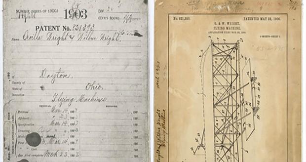سند ثبت اختراع هواپیمای برادران رایت