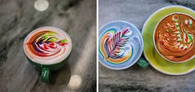 نقاشی بر روی قهوه با رنگ غذا؛ این طراحیهای خوشمزه!