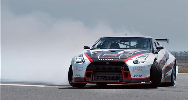 تماشا کنید: رکورد جدید نیسان GTR در کشیدن دریفت با سرعت بالا