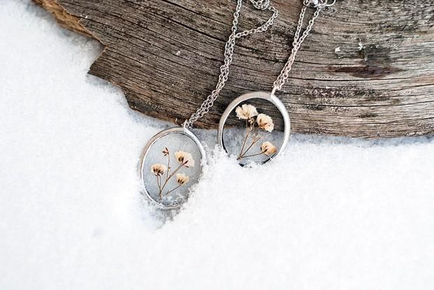 جواهرات شیشهای که طبیعت را با شما همراه میکند