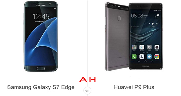s7 edge vs huawei p9 plus