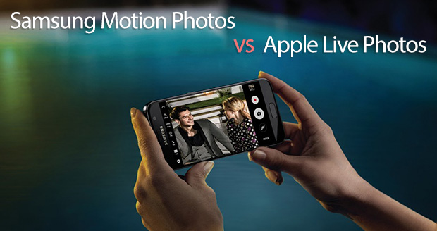 مقایسه live photos و motion photos