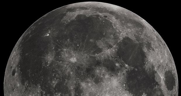 الگوهای تیره و روشن سطح ماه