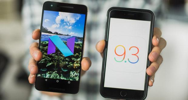 مقایسه سیستم عامل اندروید N با iOS 9