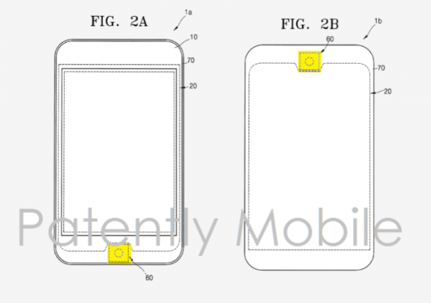 سامسونگ به دنبال طراحی مشابه دکمهی هوم آیفون برای محصولات خود است