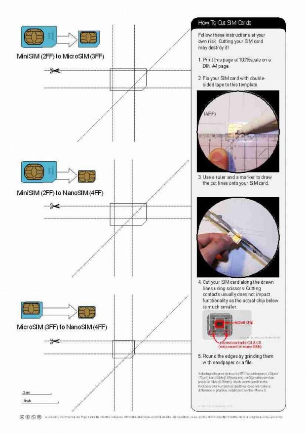 آموزش پانچ کردن سیم کارت در خانه : تبدیل سیم کارت معمولی به میکروسیم یا نانو سیم