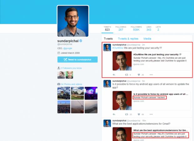 حساب کاربری مدیر اجرایی گوگل در وبسایت Quora هک شد!