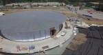 اپل کمپس ۲ Apple Campus 2 از نمای بالا شبیه یک دونات غولپیکر فضایی به نظر میرسد
