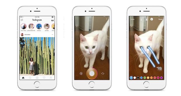 بخش داستان ها در اپلیکیشن اینستاگرام