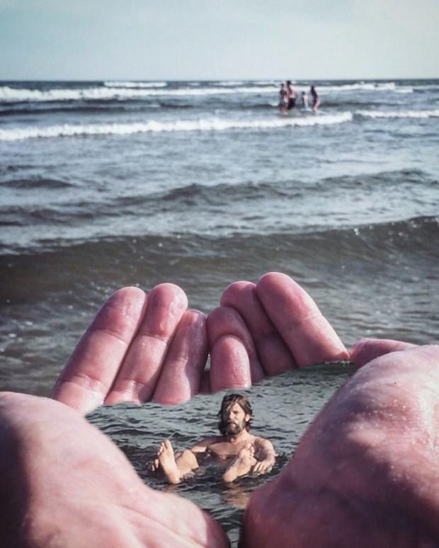 عکاسی سورئال این مرد با آیفون خود میتواند ایدههای جالبی به عکاسان بدهد