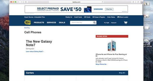 آغاز فروش گلکسی نوت ۷ در فروشگاههای Best Buy در آیندهی نزدیک