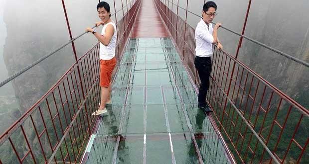 مرتفع ترین و طولانی ترین پل شیشه ای جهان در چین