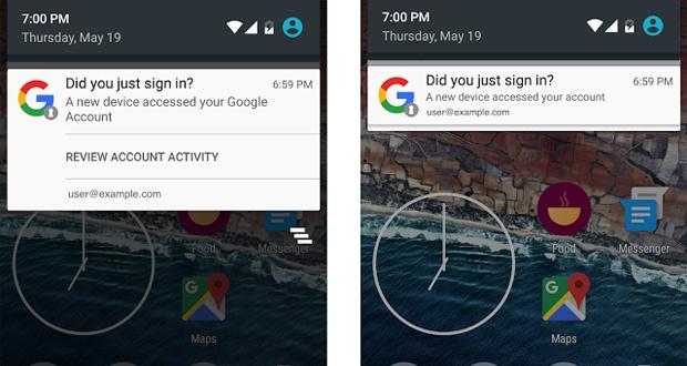 اندروید اضافه شدن دیوایسهای جدید به حساب گوگل شما را اطلاع میدهد