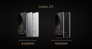 زمان عرضه و قیمت گوشی ZTE Nubia Z11