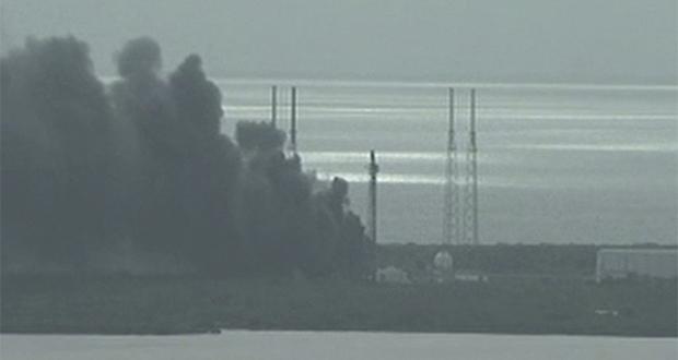 انفجار موشک فالکون 9
