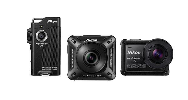 دوربینهای اکشن کم جدید سری KeyMission نیکون معرفی شدند