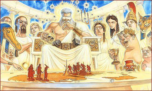 تعدادی از خدایان یونان و مصر باستان