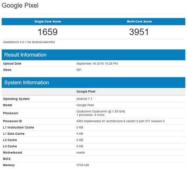 گوشی گوگل پیکسل ایکس ال با جزئیات بیشتری در بنچمارک گیک بنچ مشاهده شد