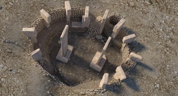 یکی از دایرههایی که به صورت کامل از توسط باستان شناسان خارج شده است