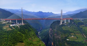 چینی ها به زودی لذت رانندگی بر روی مرتفع ترین پل جهان را تجربه خواهند کرد