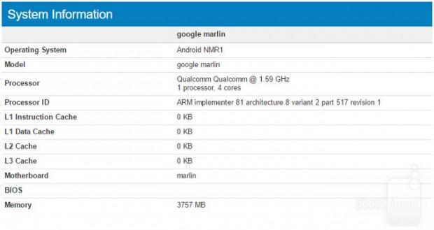 گوشی گوگل پیکسل ایکس ال (HTC Marlin) در بنچمارک گیک بنچ پدیدار شد