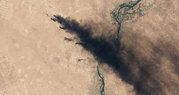 عراق و چاههای نفتی که ماههاست میسوزد