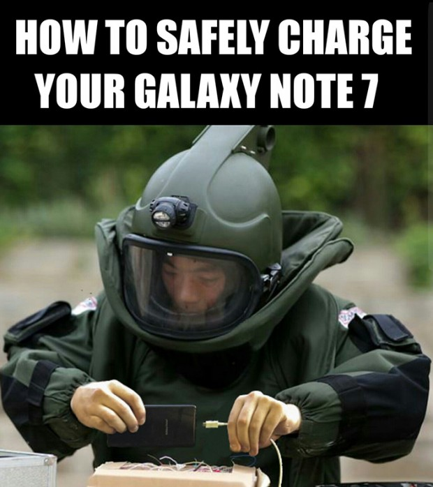 واکنش های خنده دار به انفجار گلکسی نوت 7