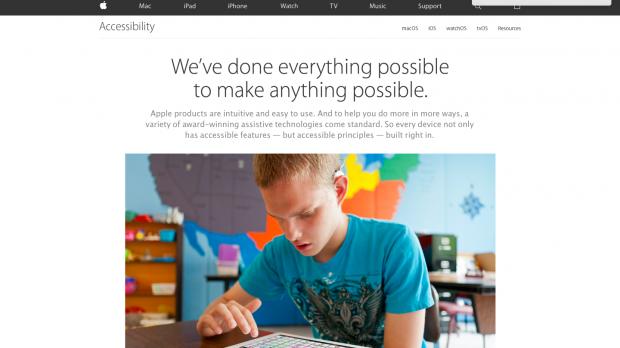 وب سایت اپل برای معلولان بهینه شد