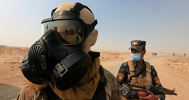 انتشار ابری از گازهای سمی توسط داعش بر روی عراق، سوریه و ترکیه