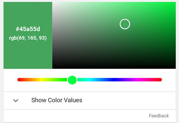 ابزار تبدیل رنگ RGB به Hex