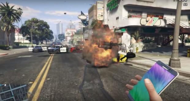 گلکسی نوت 7 در بازی GTA V
