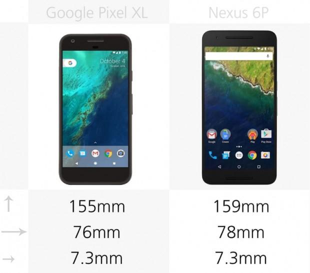 مقایسه پیکسل ایکس ال و نکسوس 6 پی - Pixel XL vs. Nexus 6P