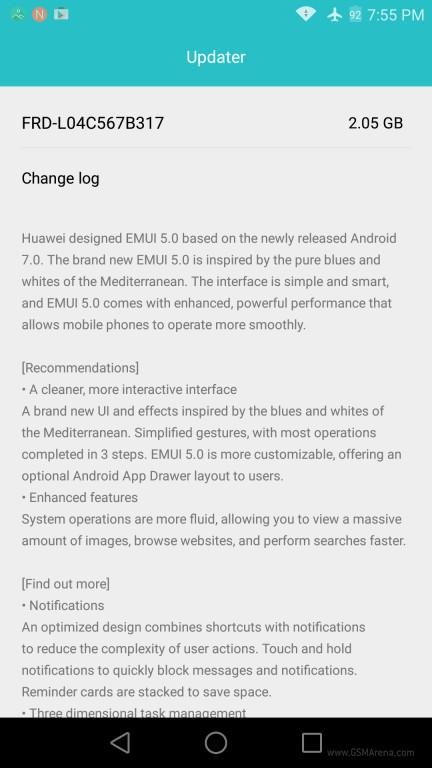 نسخه بتا اندروید 7 برای هواوی آنر 8