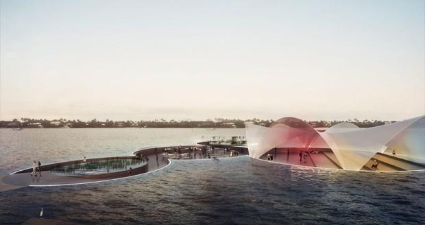 میدان شناور بر روی آب