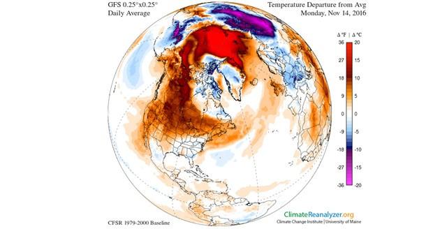 سرما در آمریکای شمالی