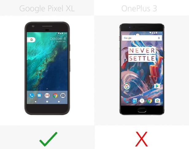 گوشی های گوگل پیکسل ایکس ال و وان پلاس 3
