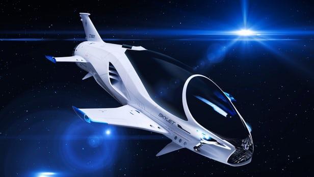 فضاپیمای تک سرنشین اسکای جت لکسوس