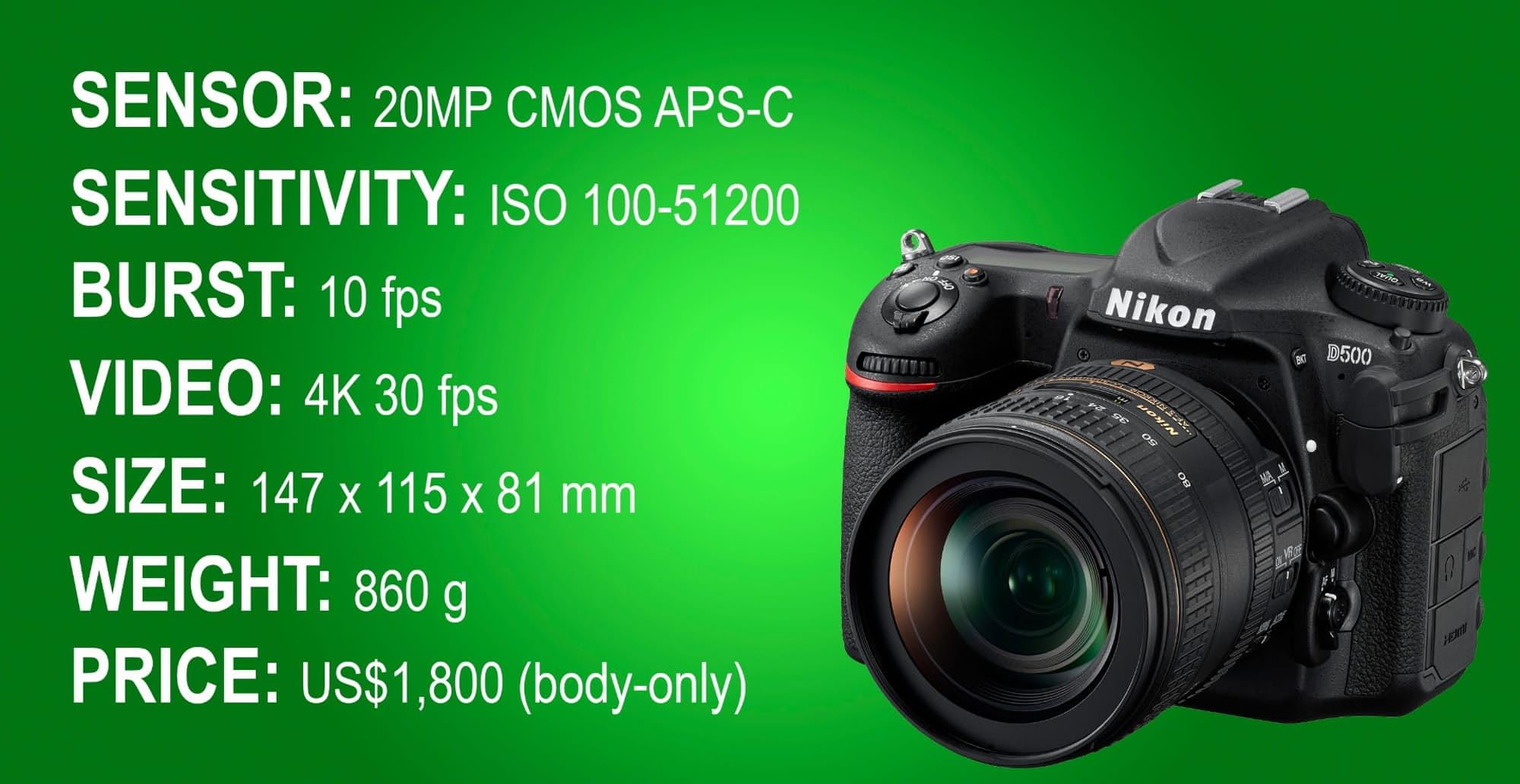 نتیجه تصویری برای تصاویر دوربین نیکون D500