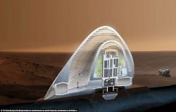 خانه های یخی در مریخ